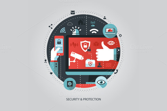Security And Protection Illustration