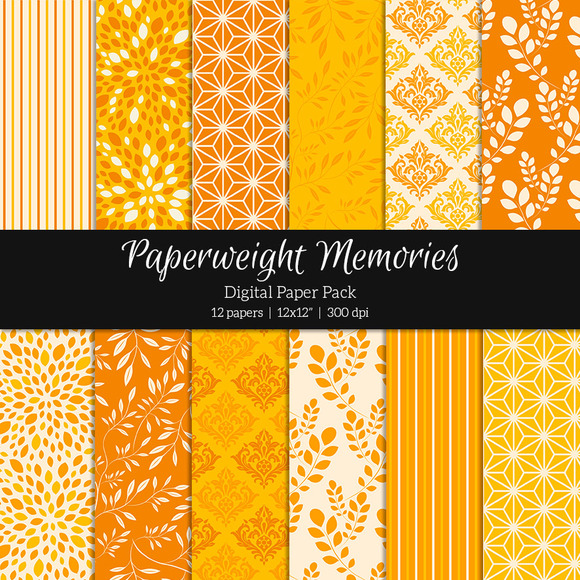 Patterned Paper Tangerine Delusion