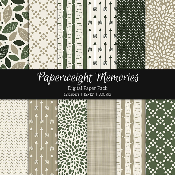 Patterned Paper Woodland Dream