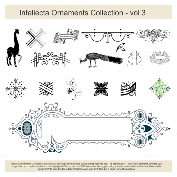 Intellecta Ornaments Collection 3