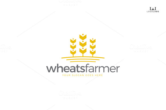 Wheats Farmer Logo