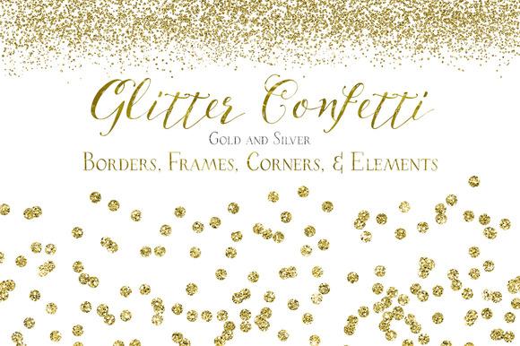 Glitter Confetti Borders Elements