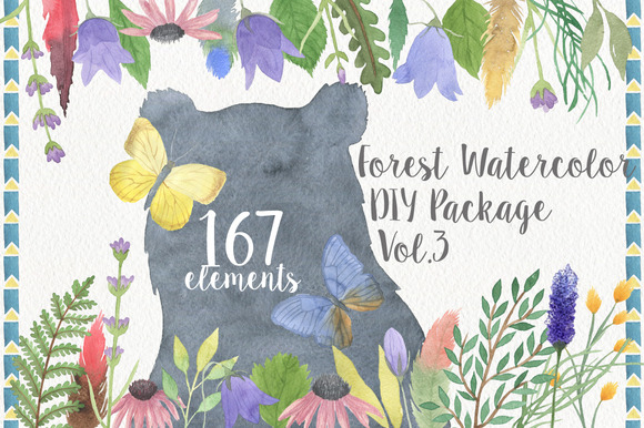 Forest Watercolor DIY