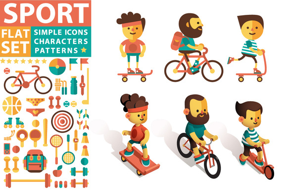 Vector Set Of Sports Icons Character