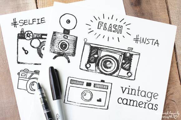 Black Ink Vintage Cameras