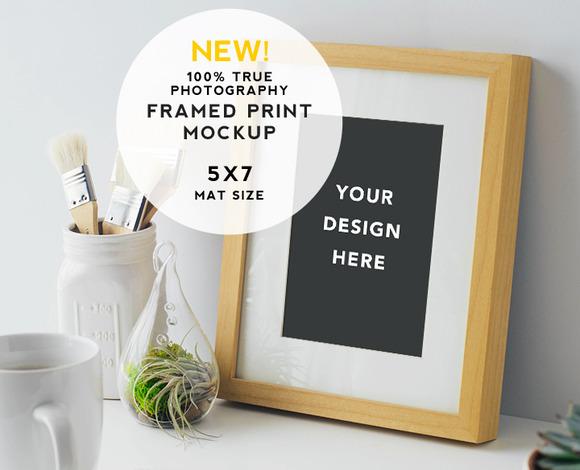 Artist Series Framed Print Mockup #7