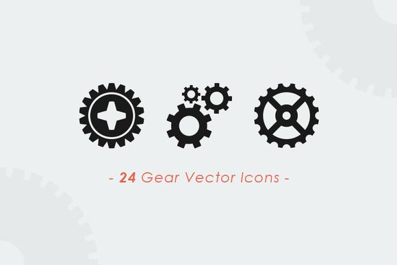 Gears Wheels Vector Set