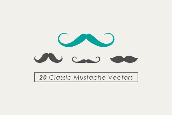 Classic Mustache Vector Set