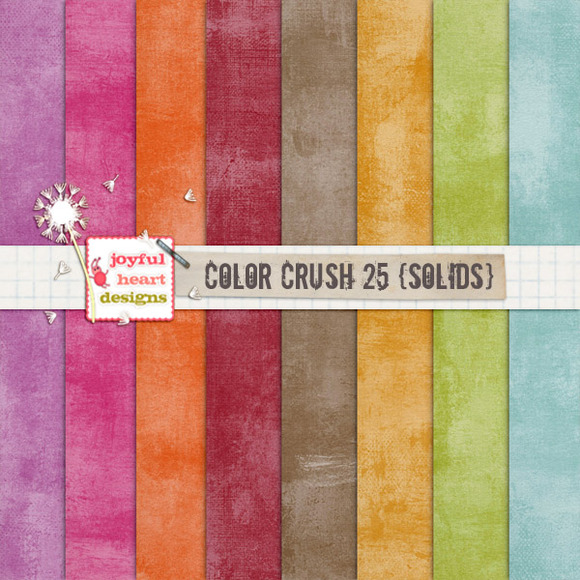 Color Crush 25 {shabby Solids}