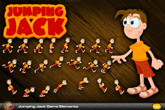 Jumping Jack Game Elements