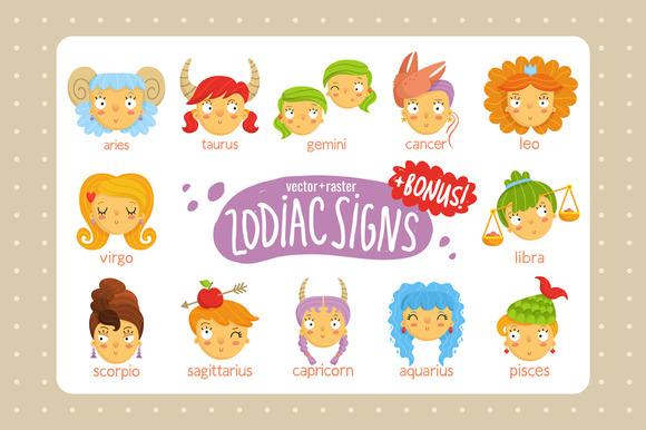 12 Cute Zodiac Signs