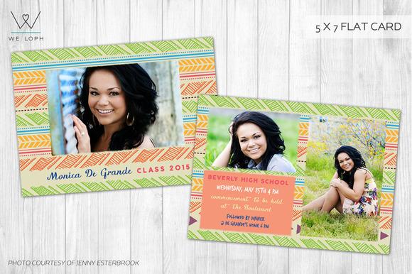 Senior Graduation Announcement Card