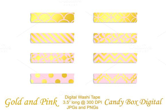 Gold Foil Pink Washi Tape