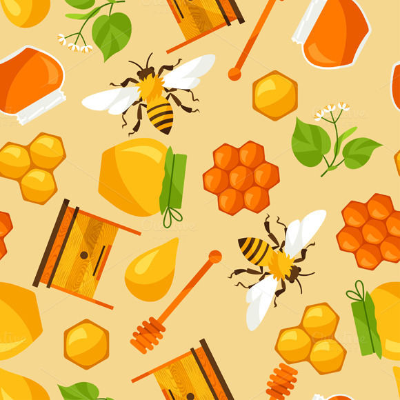 Seamless Patterns With Honey