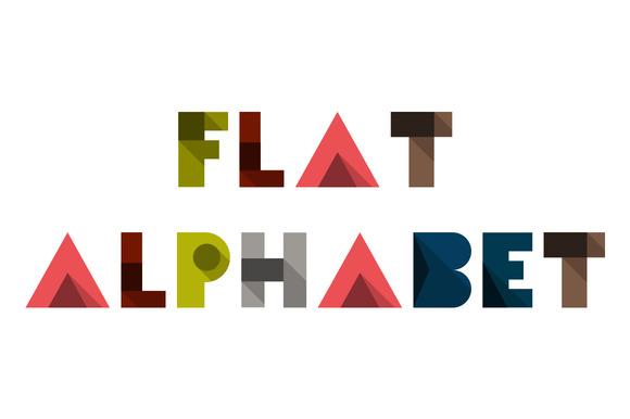 Flat Abstract Type Alphabet