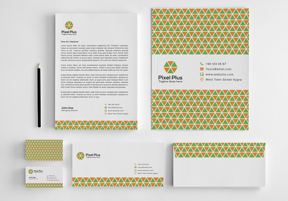 Pixel Plus Stationery Design