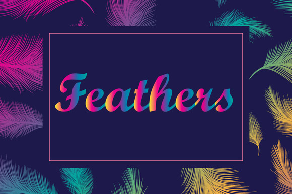Vector Feathers Patterns