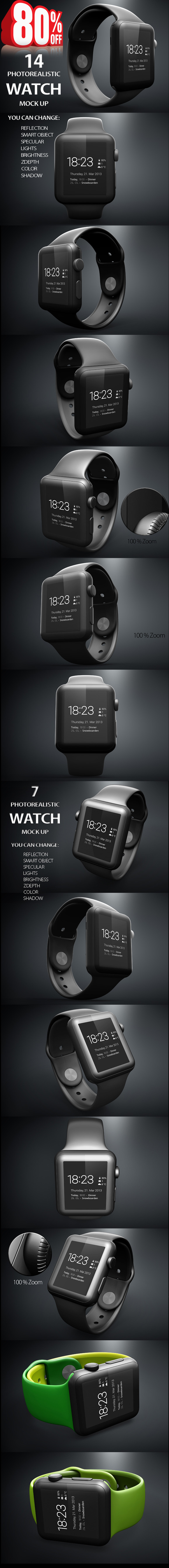 Bundle 14in1 Apple IWatch Mock Up