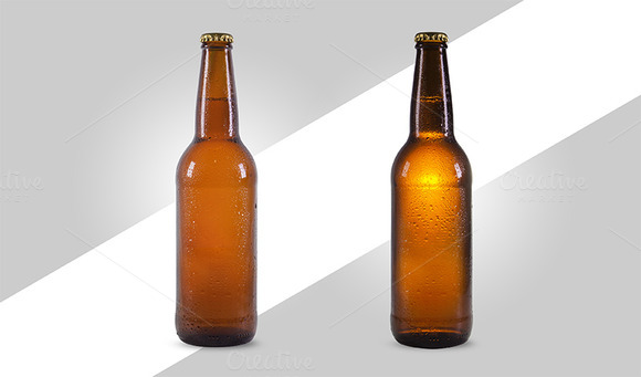 Isolated Beer Bottle Mock-up