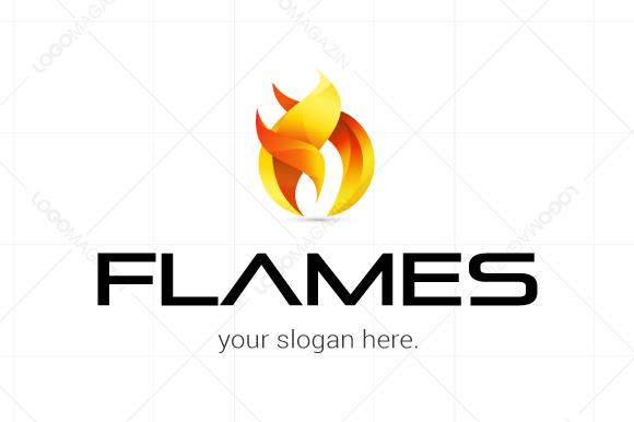 Flames Modern Logo Template