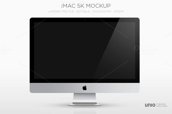 IMac 27 5k Mockup Freebie