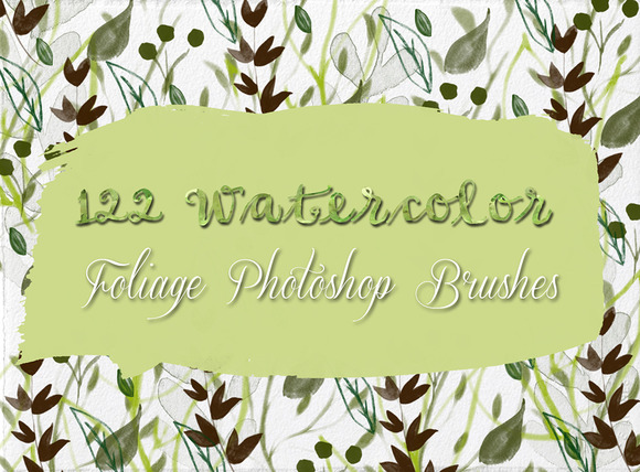 122 Watercolor Photoshop Brushes