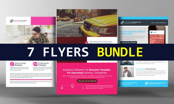 7 Corporate Business Flyers Bundle