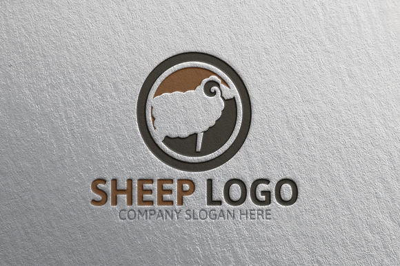 Sheep Logo Template