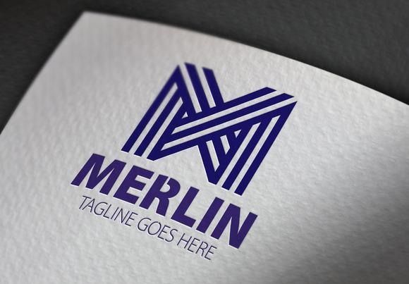 Merlin M Letter Logo