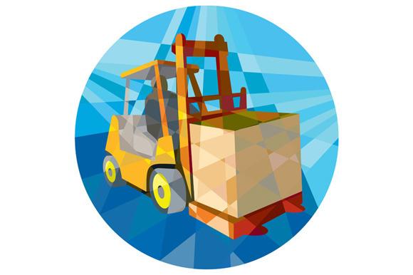 Forklift Truck Materials Box Circle