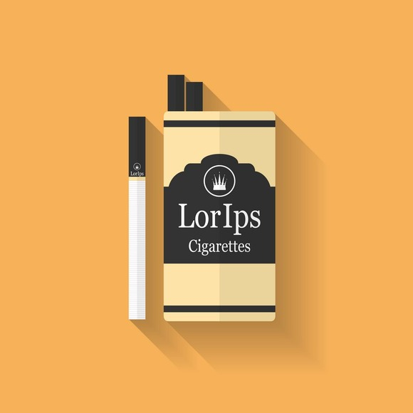 Icon Of Cigarette Pack Flat Style