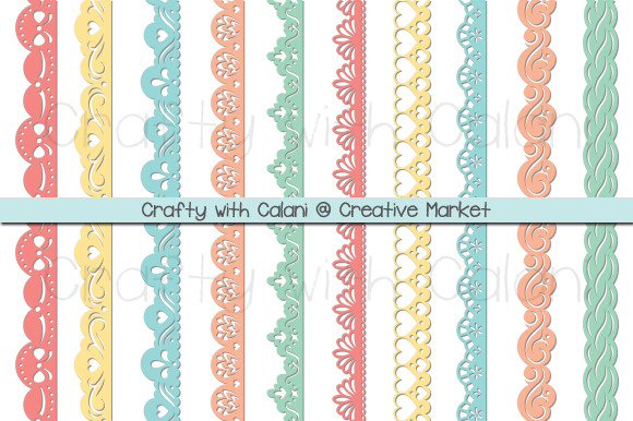 Pastel Color Paper Punch Borders