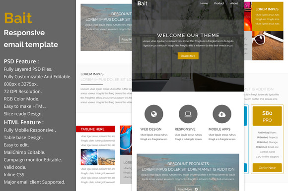Bait Responsive Email Template