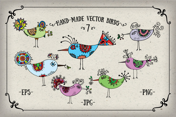 Handmade Vector Birds