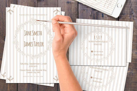 Stripes Wedding Invitation