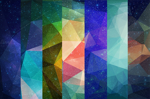 50 Polygonal Background