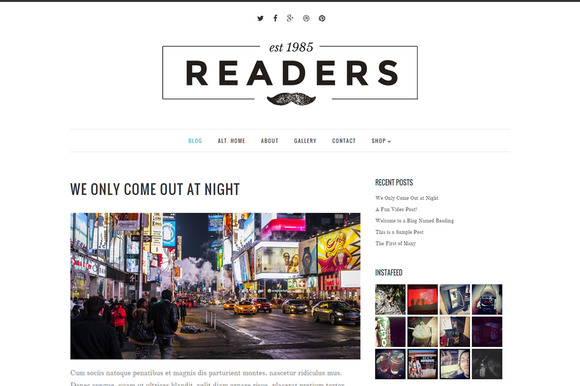 Readers Responsive WordPress Theme
