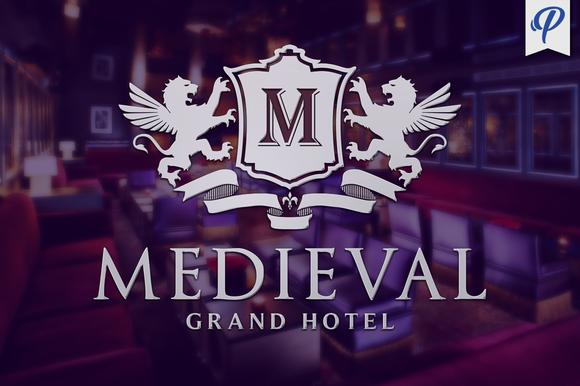 Medieval Heraldic Logo Template