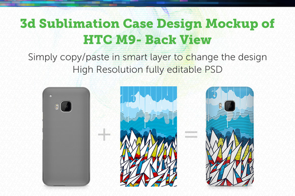 HTC ONE-M9 3D Sublimation Mock-up