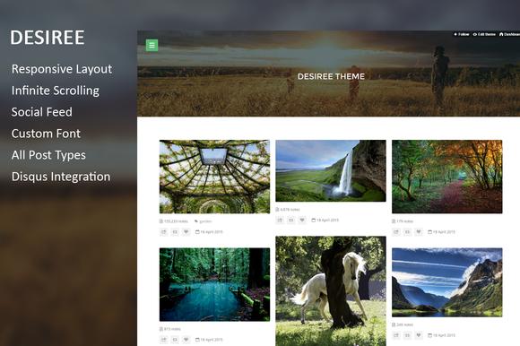 Desiree Beautiful Grid Tumblr Theme