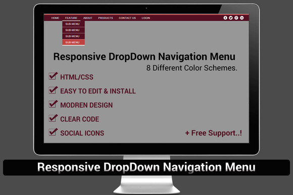Responsive DropDown Navigation Menu