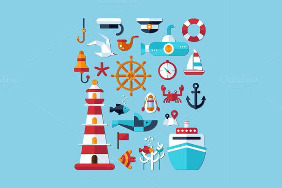 Sea Elements Set