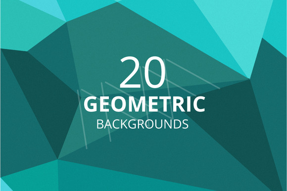 Set Of Geometric Backgrounds