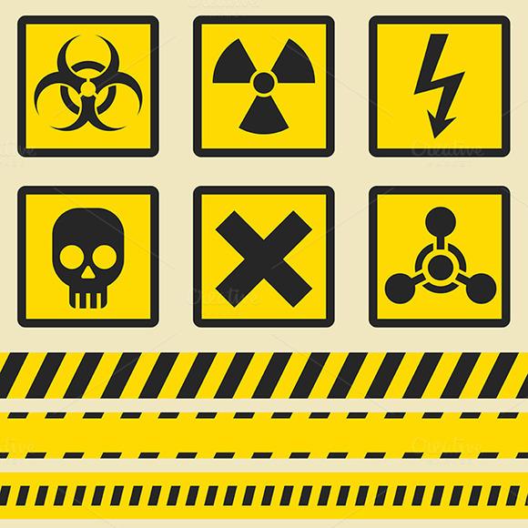 Warning Signs Symbols Seamless Tap