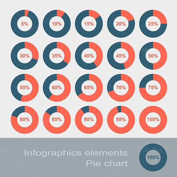Circle Diagram Pie Infographic Elem