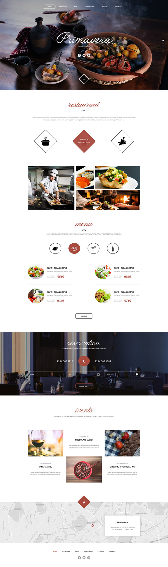 Restaurant Great OnePage PSD