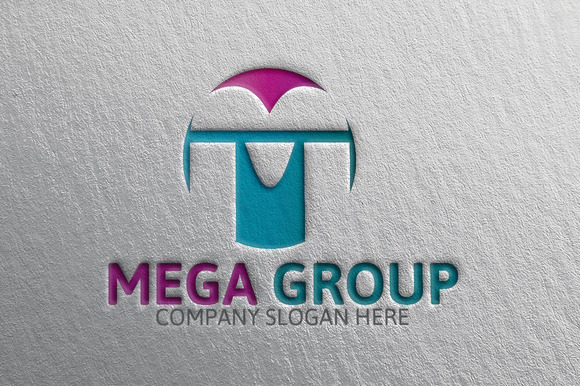 Mega Group M Letter Logo