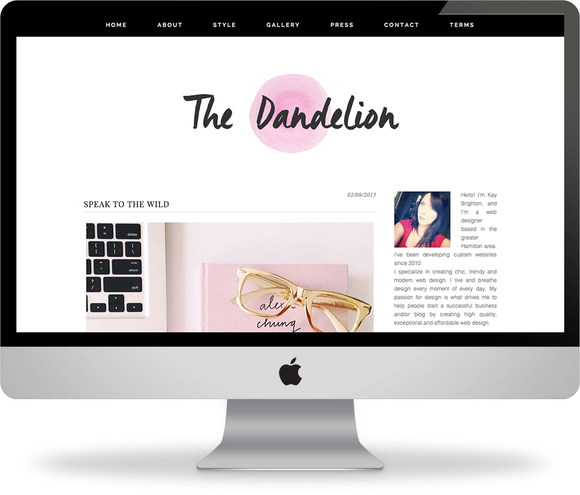 Dandelion Premade Wordpress Theme