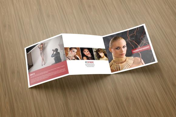 Square Tri Fold Photography Brochure