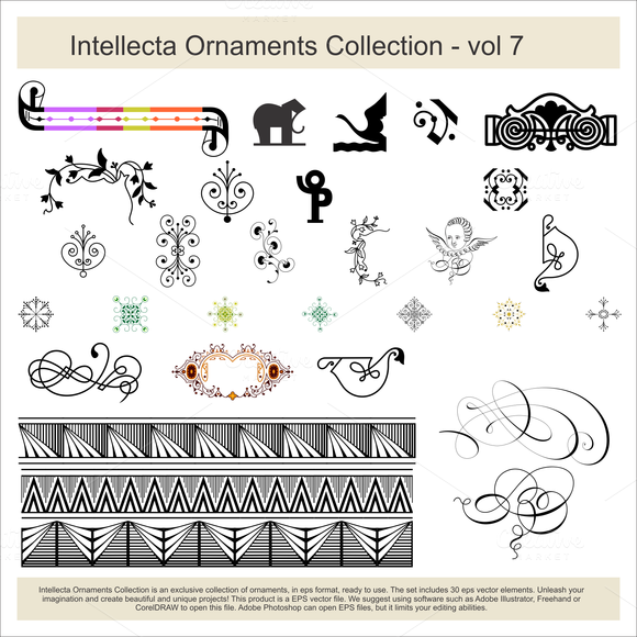 Intellecta Ornaments Collection 7
